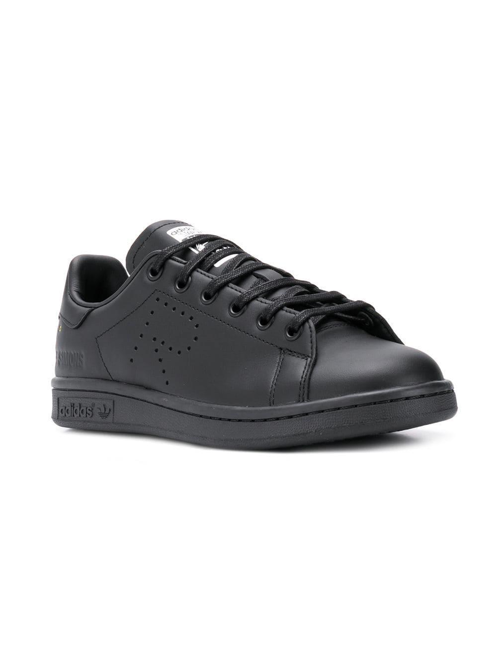 buy popular ce749 3e92e Adidas By Raf Simons - Black Stan Smith Trainers - Lyst. View fullscreen