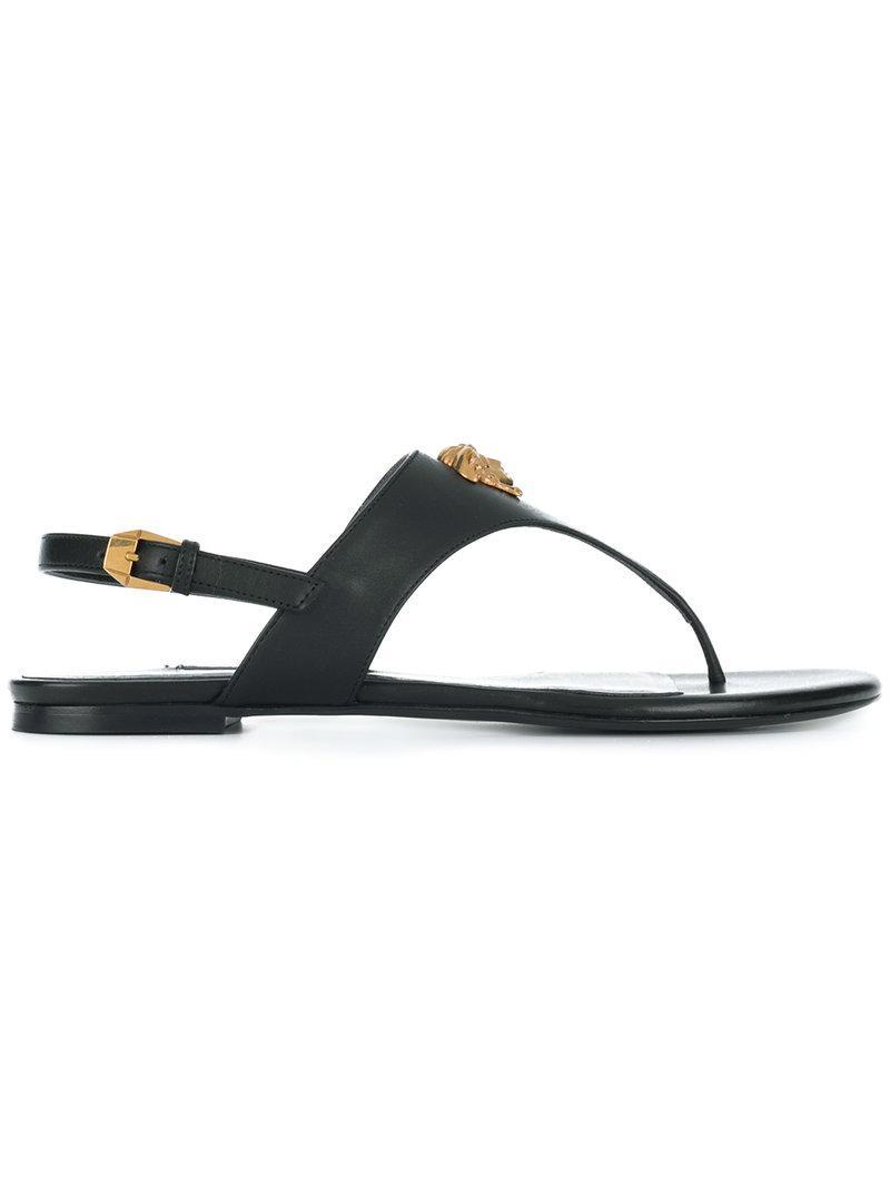 6b5dc5e3cfb239 Lyst - Versace Medusa Slingback Sandals in Black