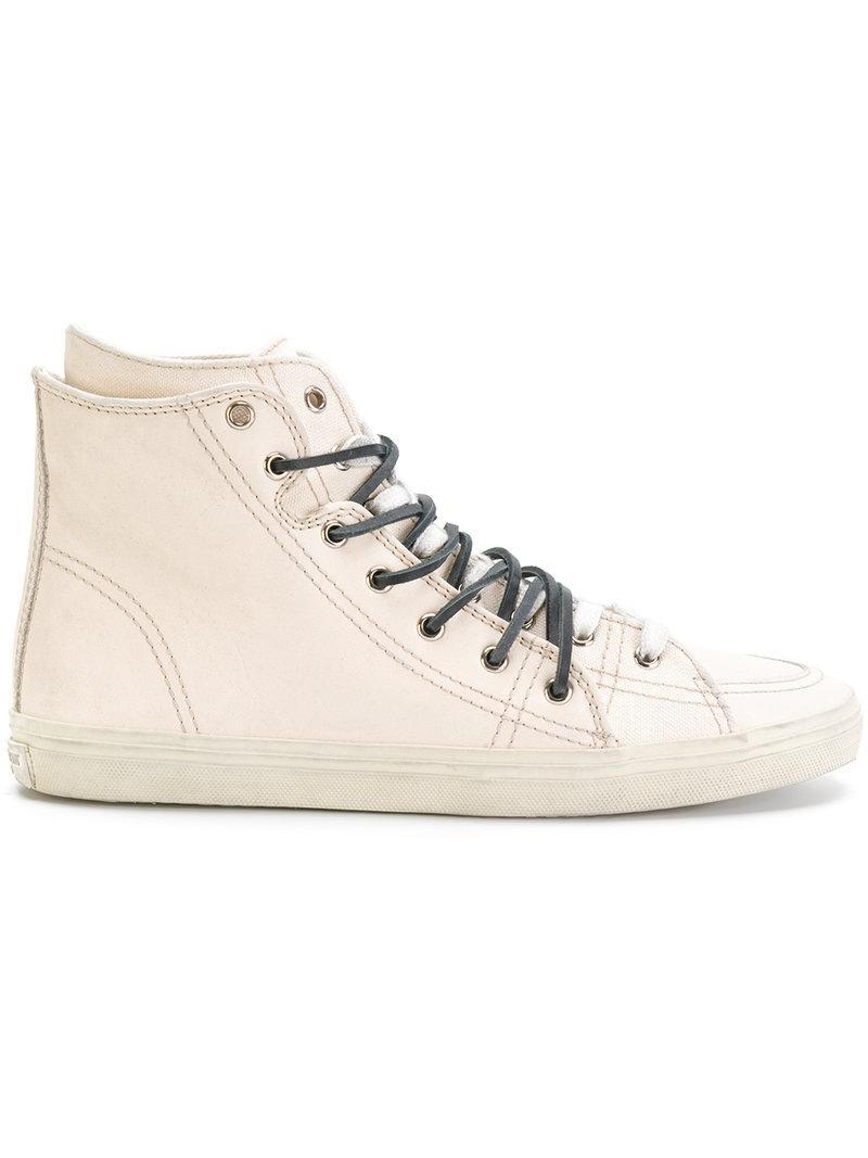 Saint Laurent Signature Court hi-top sneakers cheap cost 5yboi