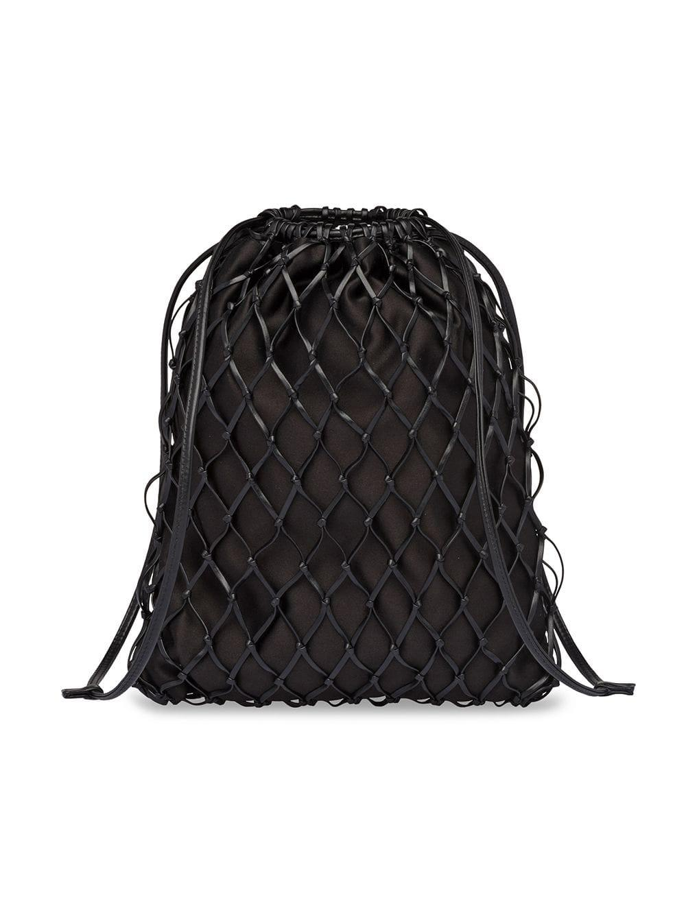 f29661260abc86 Prada - Black Net Crossbody Bag - Lyst. View fullscreen