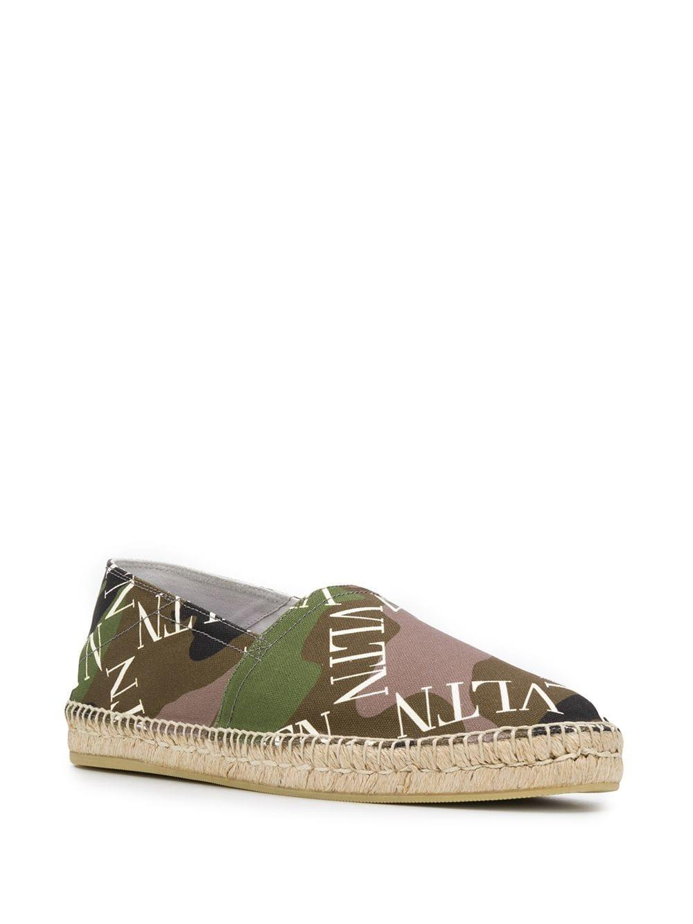 472455eb7c4b6 Lyst - Valentino Logo Grid Camouflage Espadrilles in Green for Men
