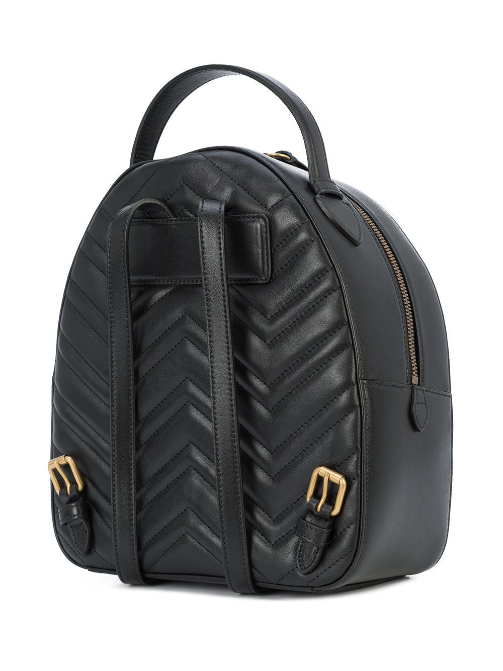 88fa8bbe93bb Gucci Gg Marmont Animal Studs Backpack in Black - Lyst