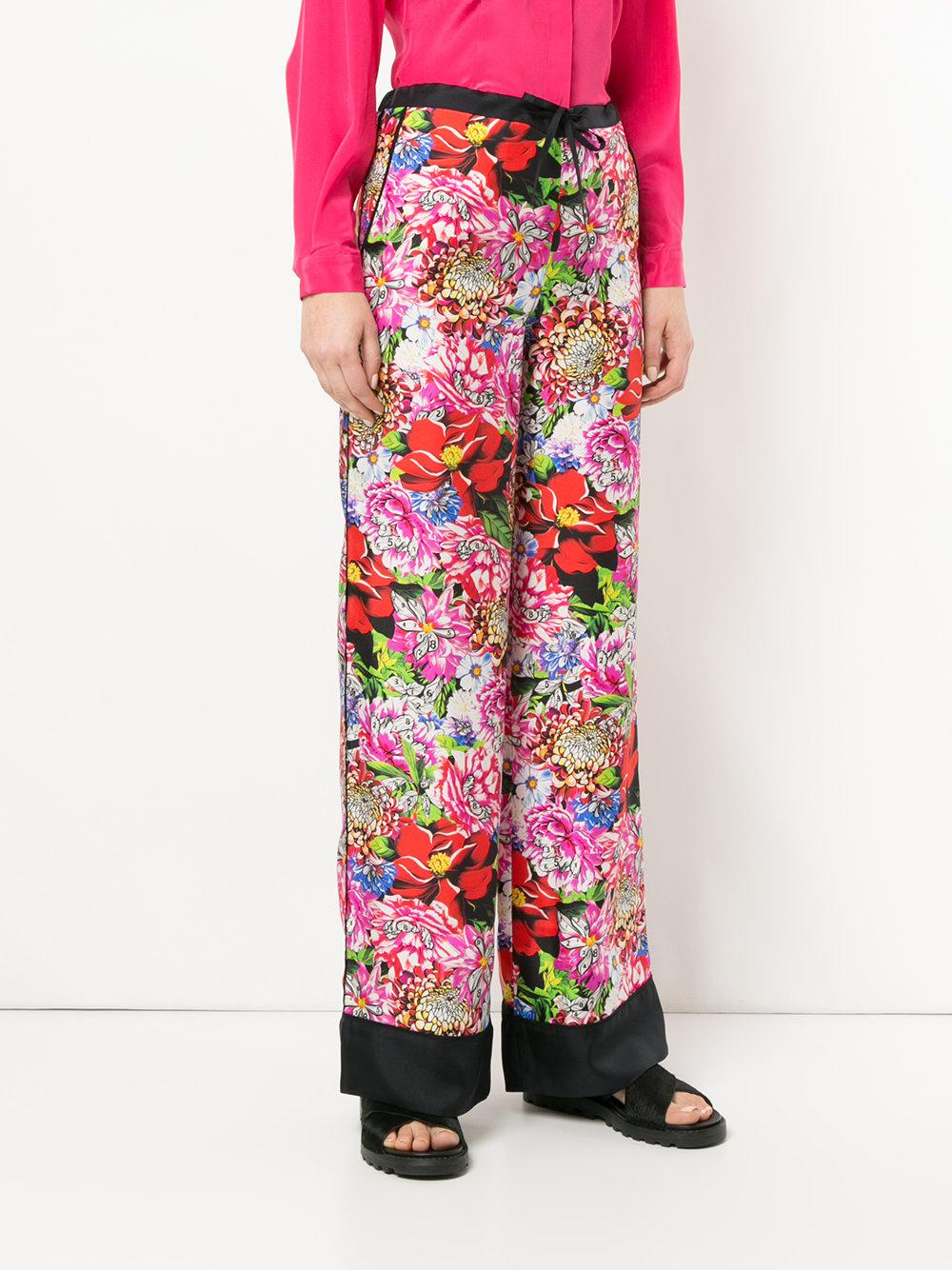 floral print trousers - Red Mary Katrantzou 1f6cM4z4y