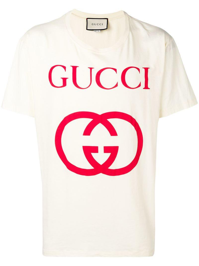 a73d5813a Gucci - Multicolor Front Logo T-shirt for Men - Lyst. View fullscreen