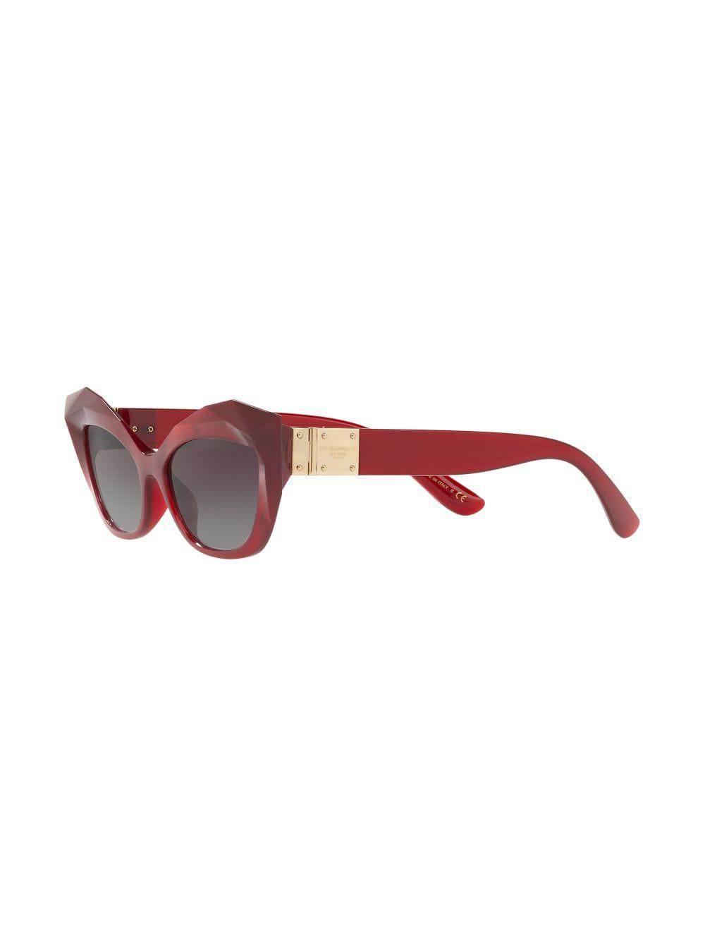 388339c25b2d Dolce   Gabbana Cat-eye Tinted Sunglasses in Red - Lyst