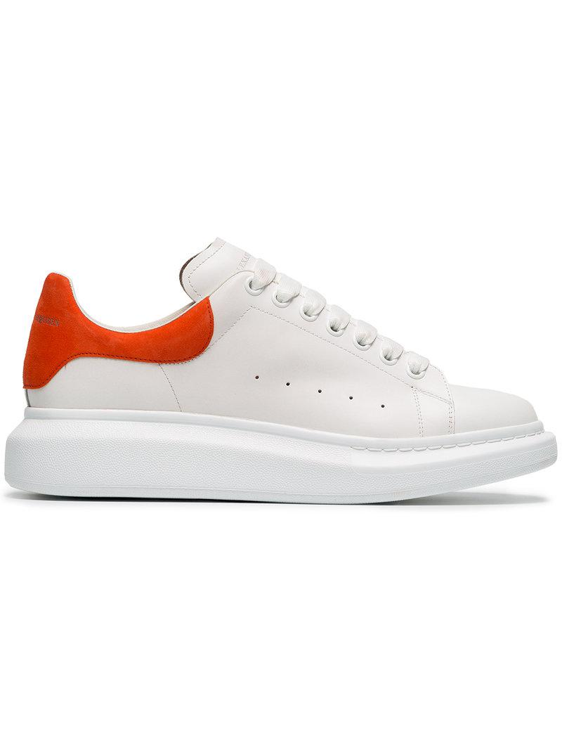 white and orange oversized leather sneakers Alexander McQueen BVR4Ui10