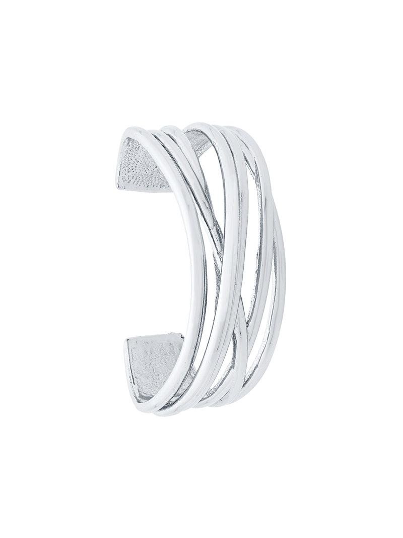 Federica Tosi gemstone embellished cuff bangle - Metallic amuvHHHyoS