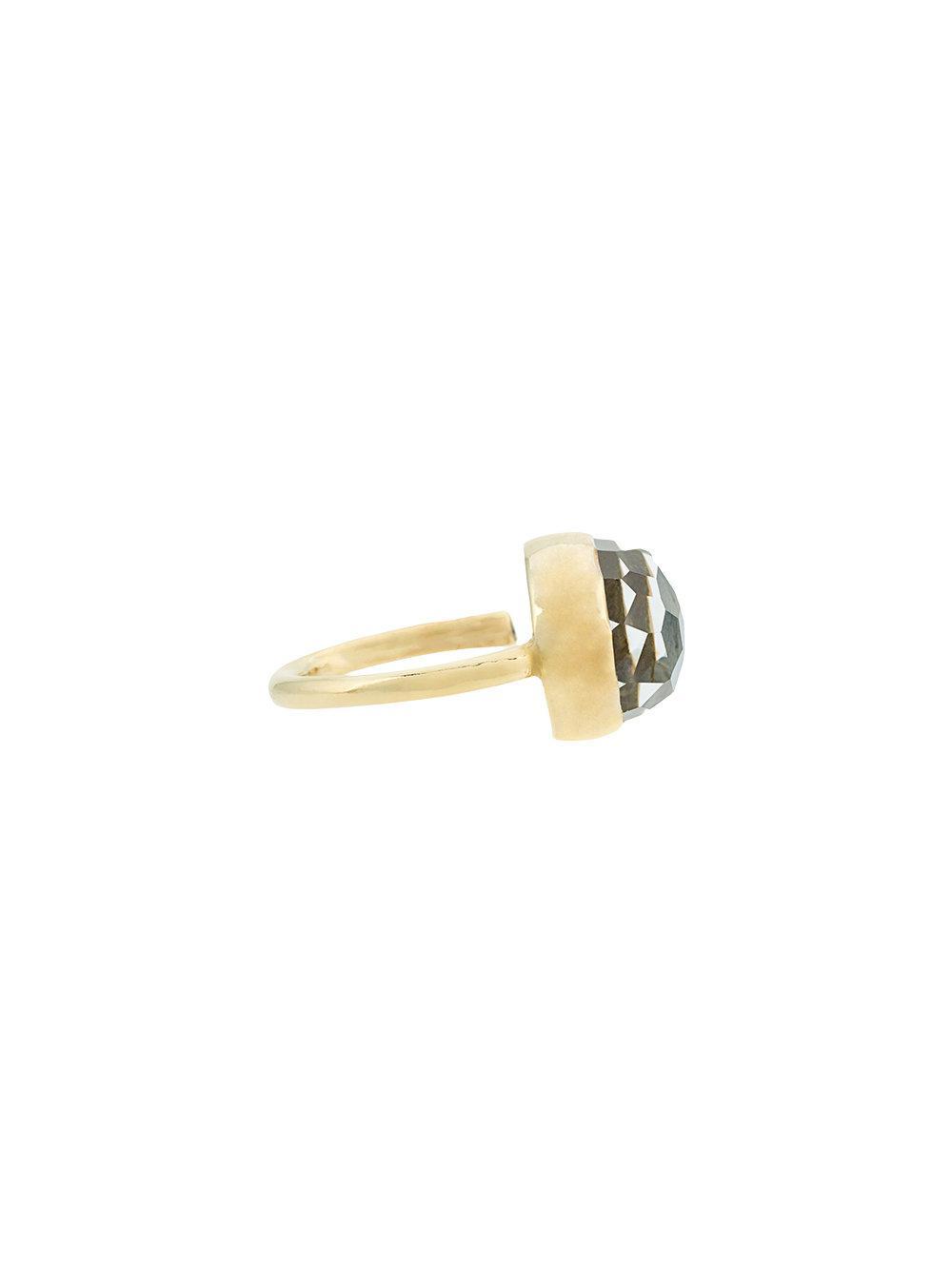 Turquoise Gold Crown Ring - Metallic Katerina Makriyianni De0IV1b