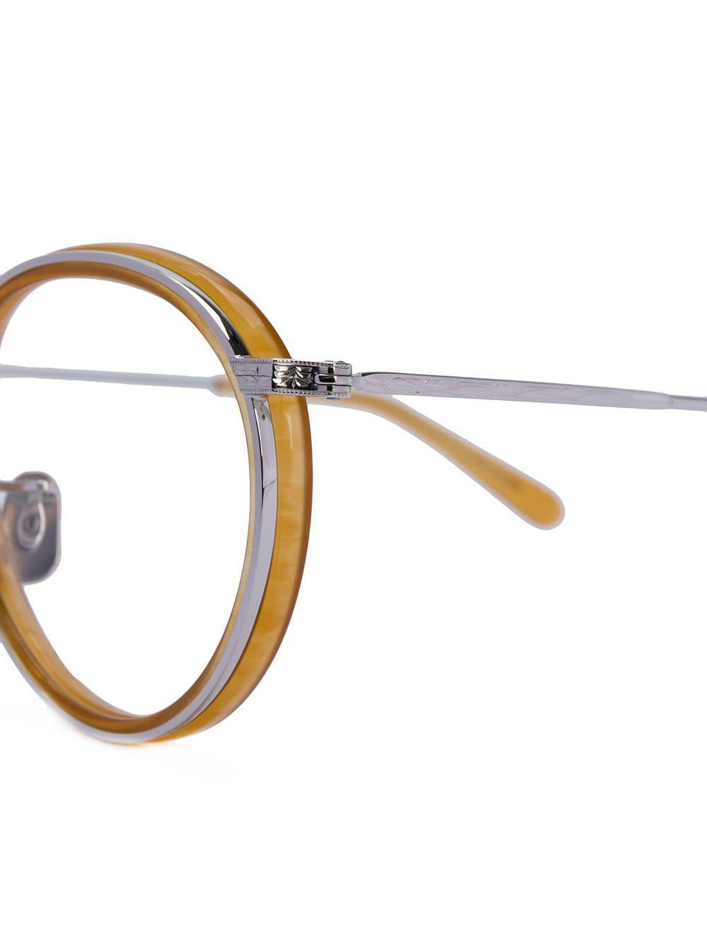 974c65b188 Gafas de montura redonda Eyevan 7285 de color Amarillo - Lyst
