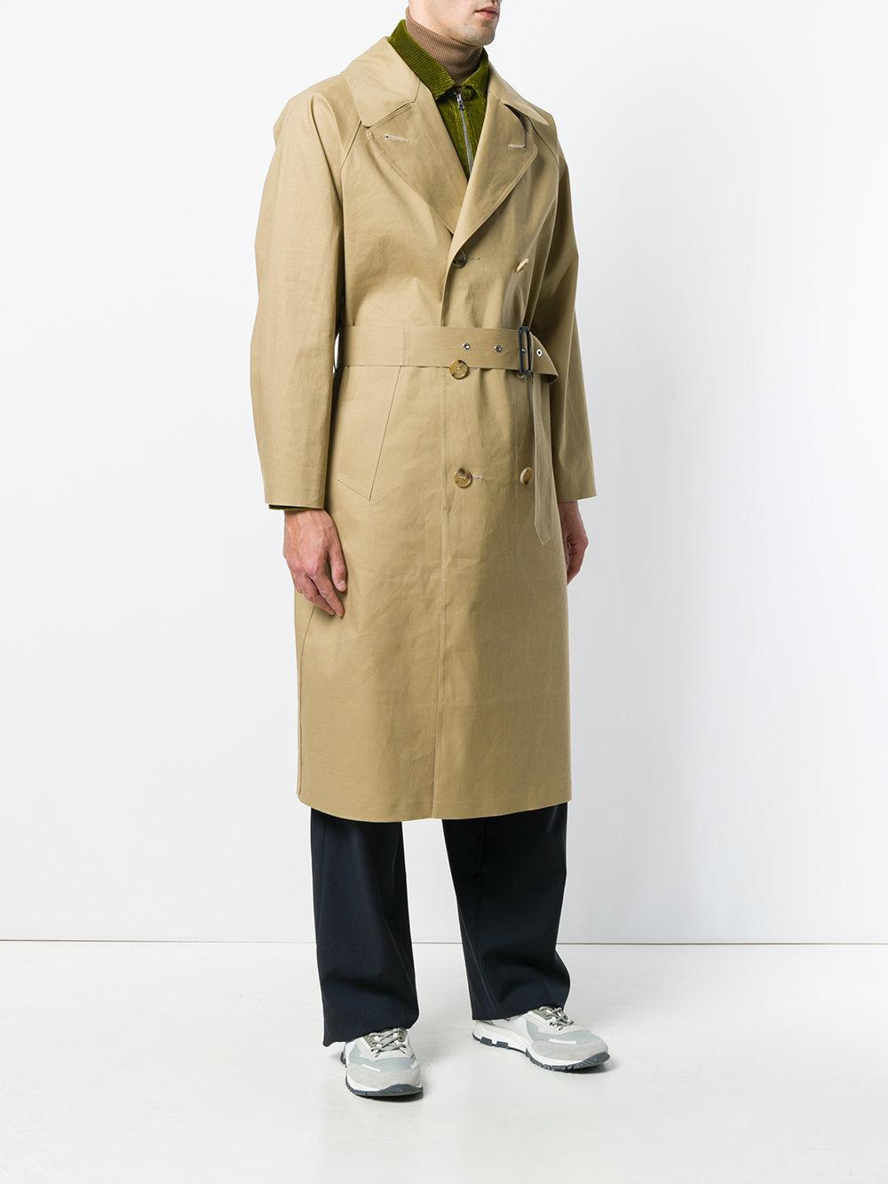 Mackintosh Kelp Trench Coat in Natural for Men - Lyst