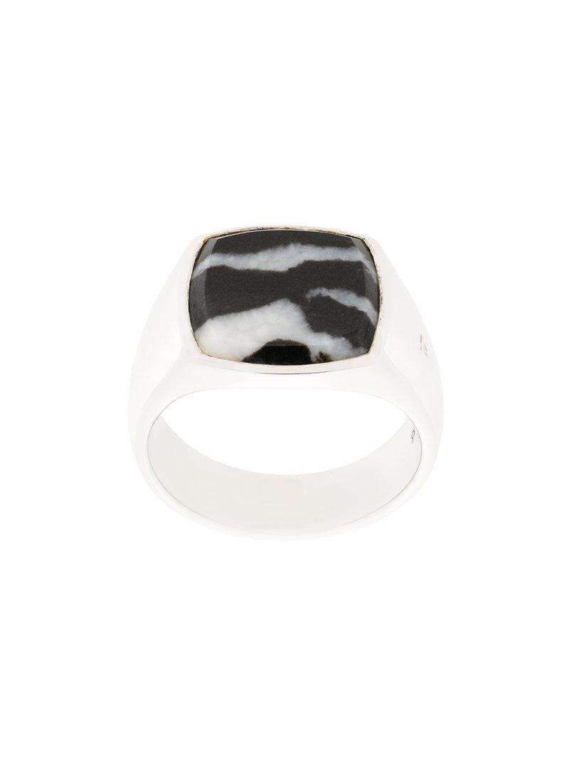Tom Wood cushion zebra ring - Metallic 1kB6Lq