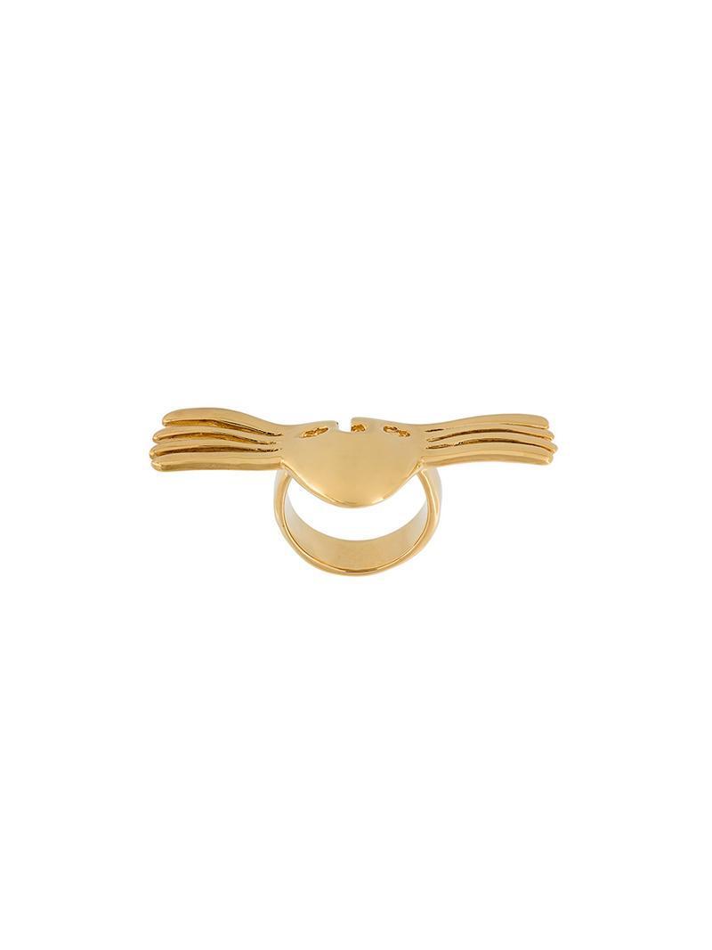 Melina winged mask ring - Metallic Aur RBG7zUvT