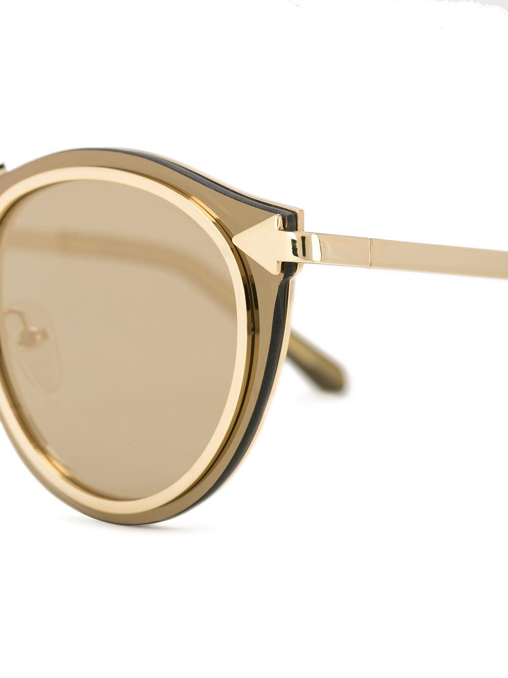 4c9e197828be Karen Walker - Metallic Solar Harvest Superstars Sunglasses - Lyst. View  fullscreen