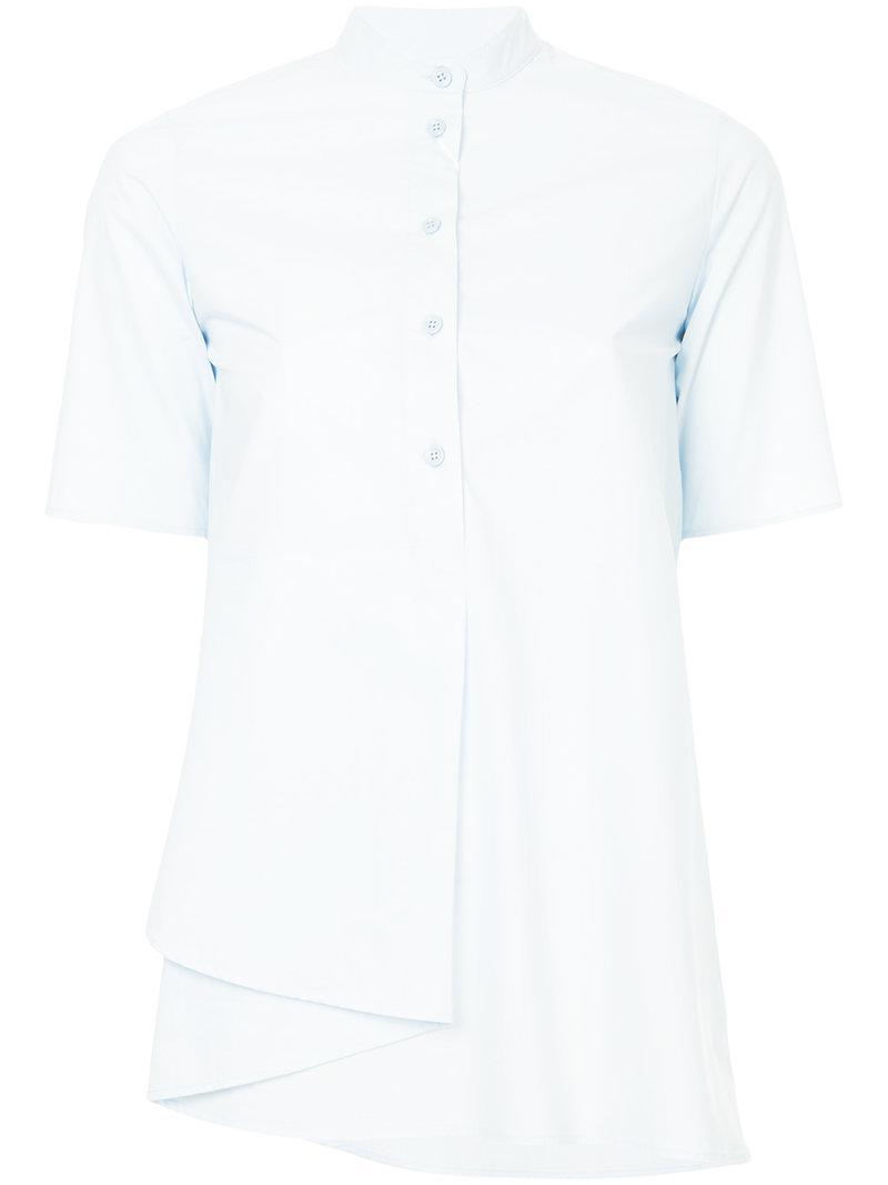 Low Cost Sale Online Mandarin-collar cotton-poplin blouse Maison Martin Margiela Cheap Sale Manchester Purchase Sale Online Cheap Hot Sale IBrIA96gRJ