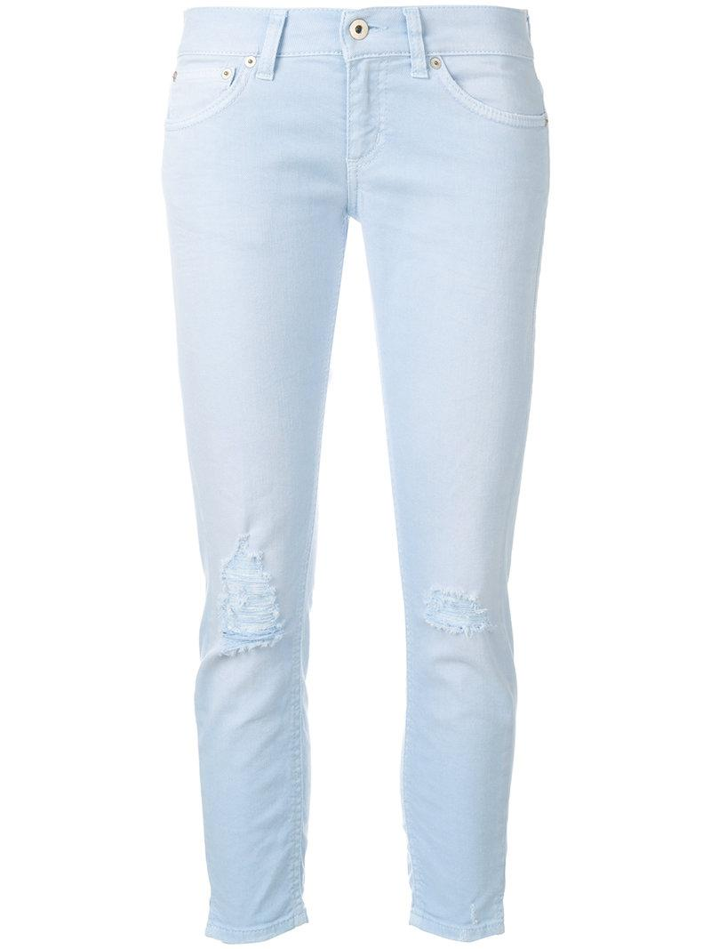 cropped fitted jeans - Blue Dondup xaQwkIDY