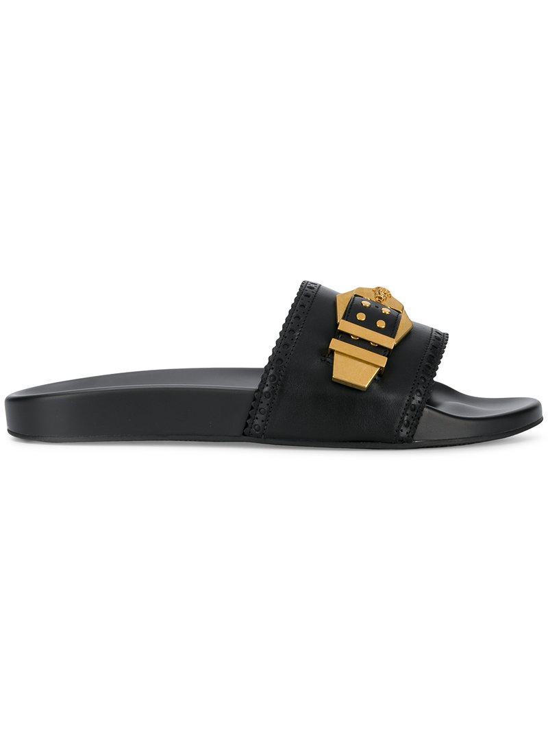 Lyst - Sandale Homme Versace pour homme en coloris Noir ... d3b861f504f