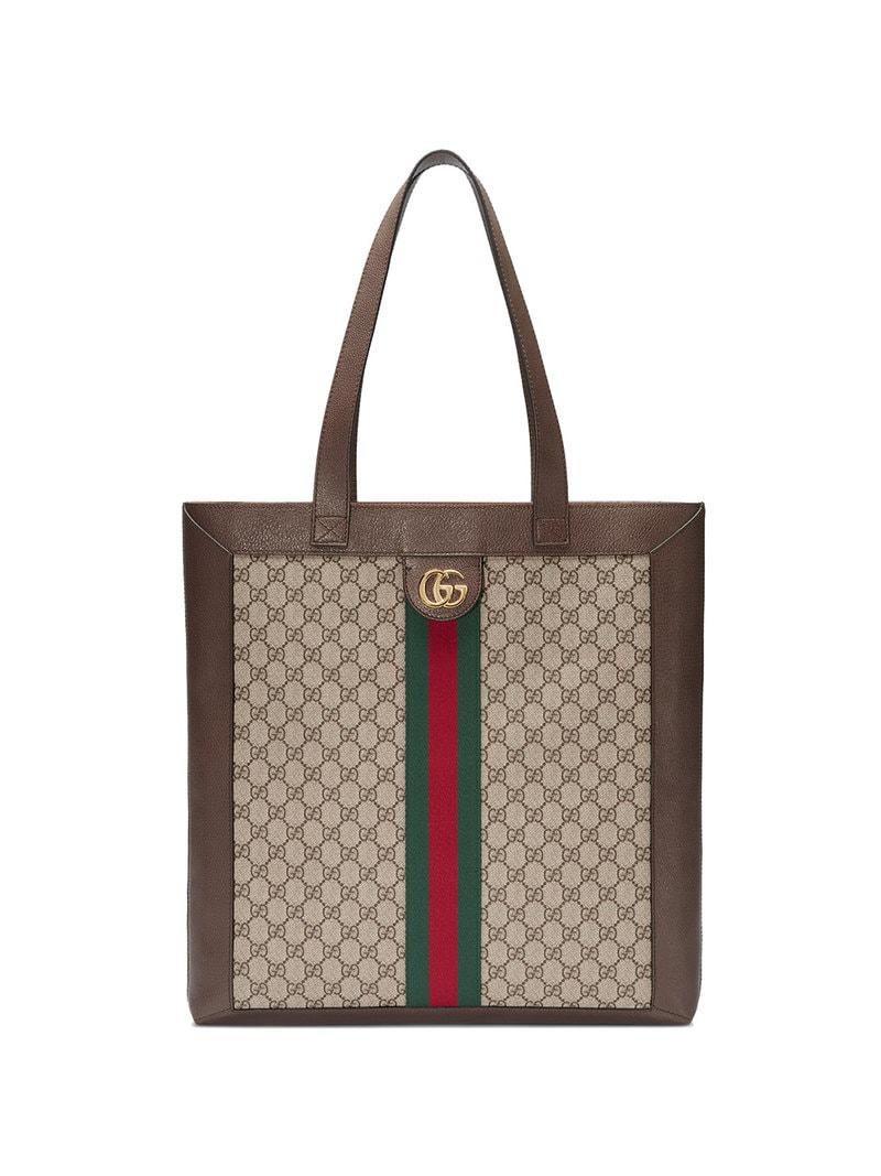 d25fa9ed1 Lyst - Gucci Ophidia Soft GG Supreme Large Tote in Brown - Save 9%