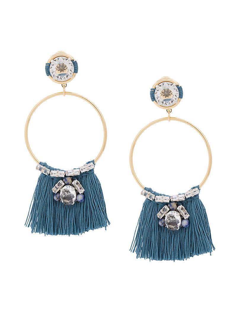 Rada embellished hoop earrings - Metallic 7WtvRLW9RR