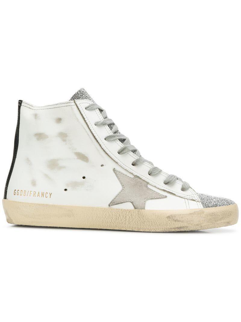cd2898615634c Golden Goose Deluxe Brand Francy Hi-top Sneakers in White - Lyst