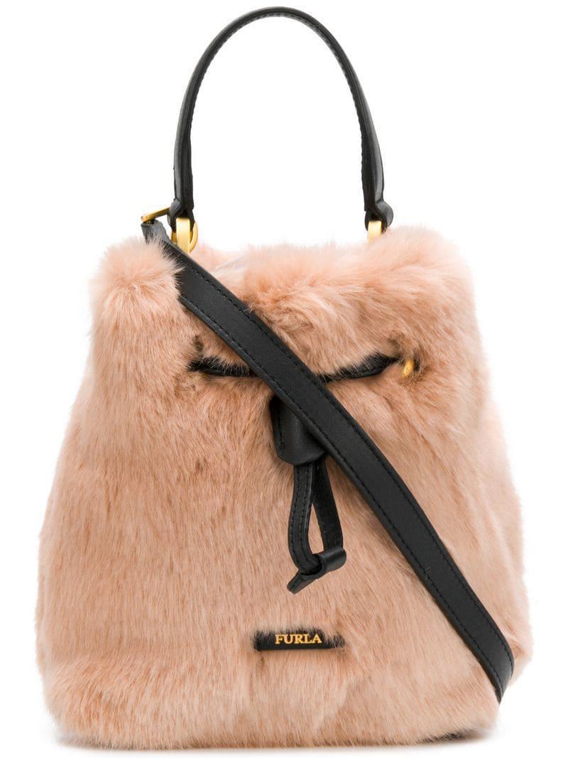 Furla - Pink Stacy Nuvola Medium Bucket Bag - Lyst. View fullscreen f55c503f61a3b