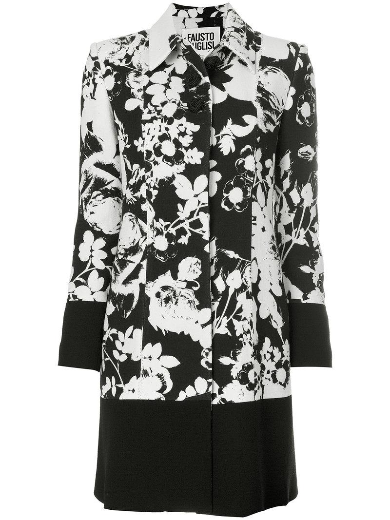 Fausto Puglisi floral patterned coat Enjoy Shopping Sast 7DcGRNa