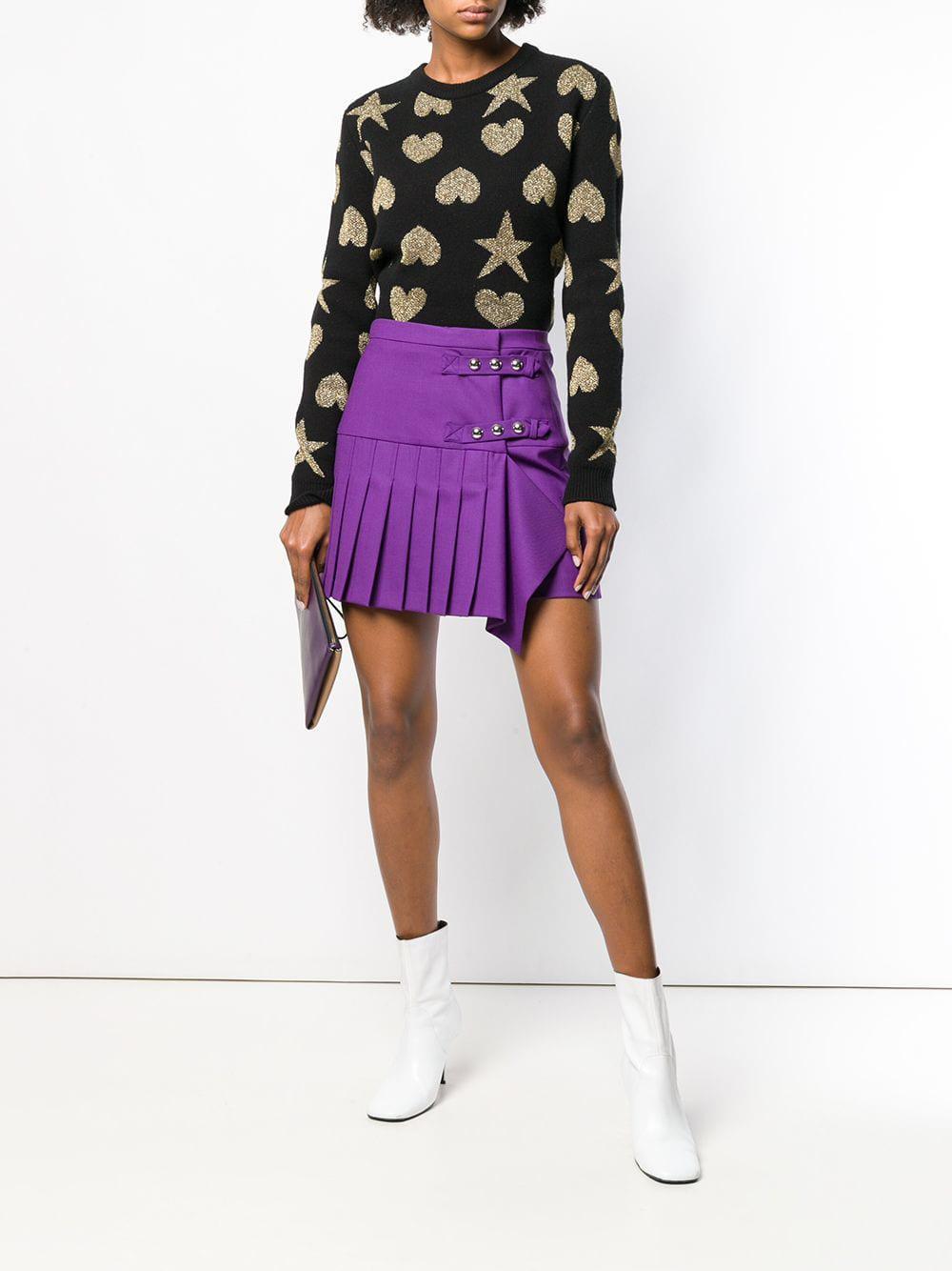 88ba1cd569 Pinko Pleated Mini Skirt in Purple - Lyst