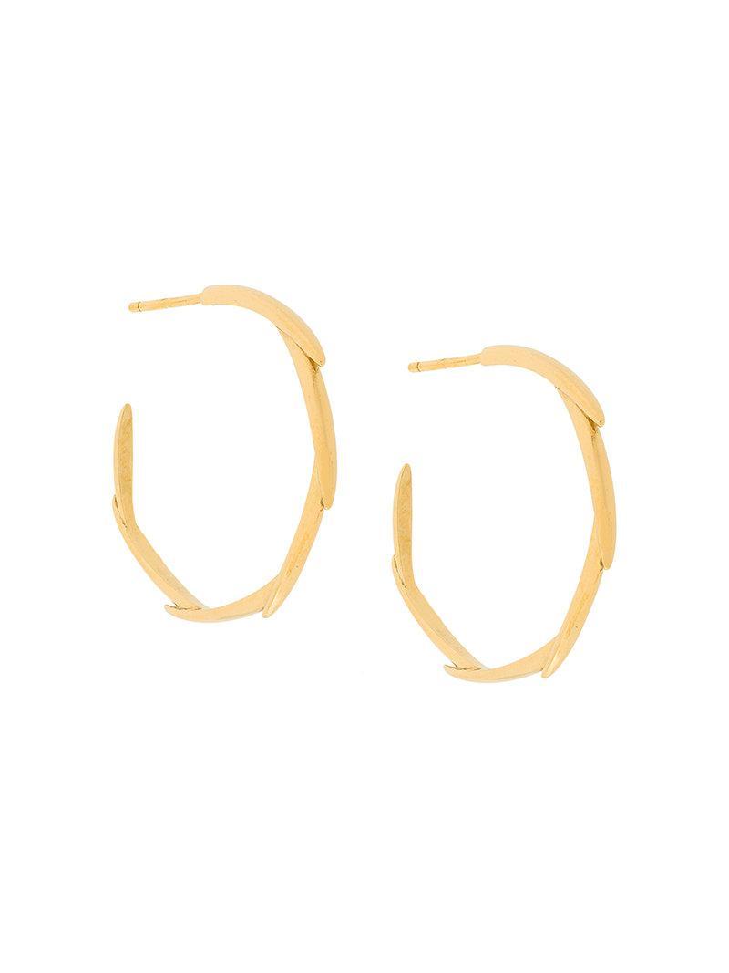 Niomo Brahea small hoop earrings - Metallic uU9w9FGZg