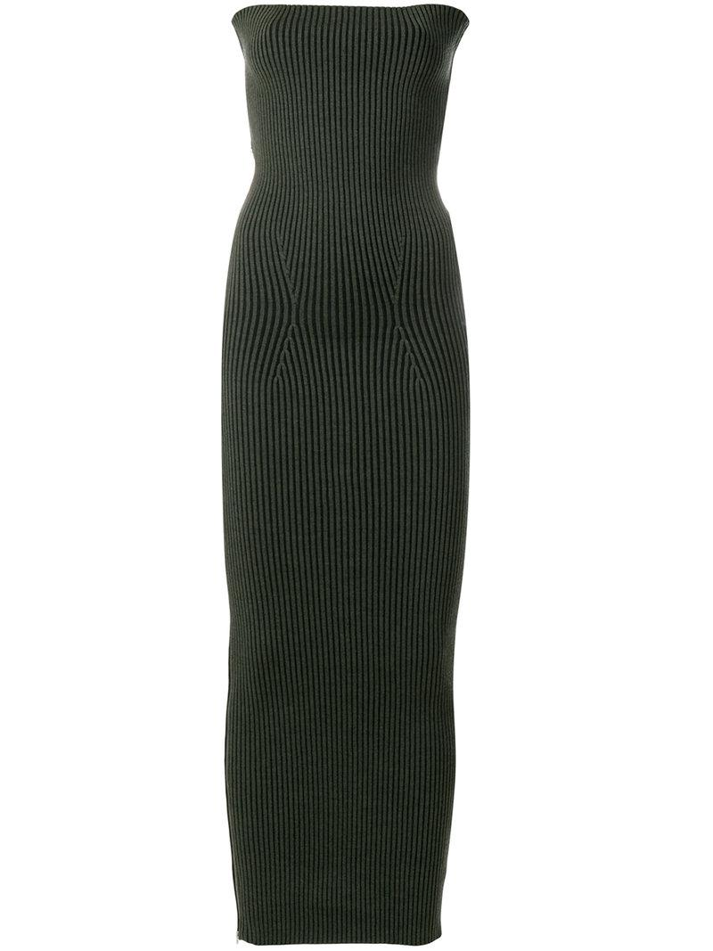 Outlet Factory Outlet Mm6 Maison Margiela ribbed fitted dress Outlet Locations Cheap Sale 100% Guaranteed Marketable Buy Cheap New Arrival 7YxnMEKca
