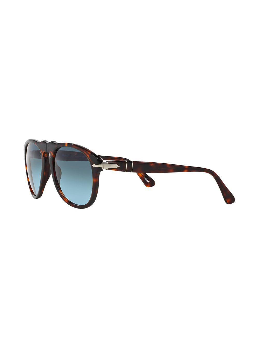 c6b4e698ef Persol Tortoiseshell-effect Round Sunglasses in Brown for Men - Lyst