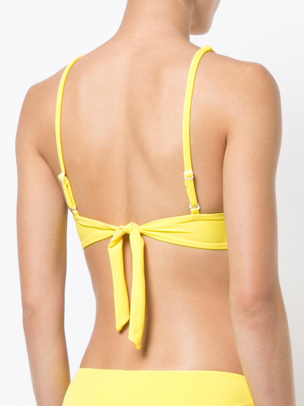 Keira bikini top - Yellow & Orange Onia Genuine mmRN6EzKbK