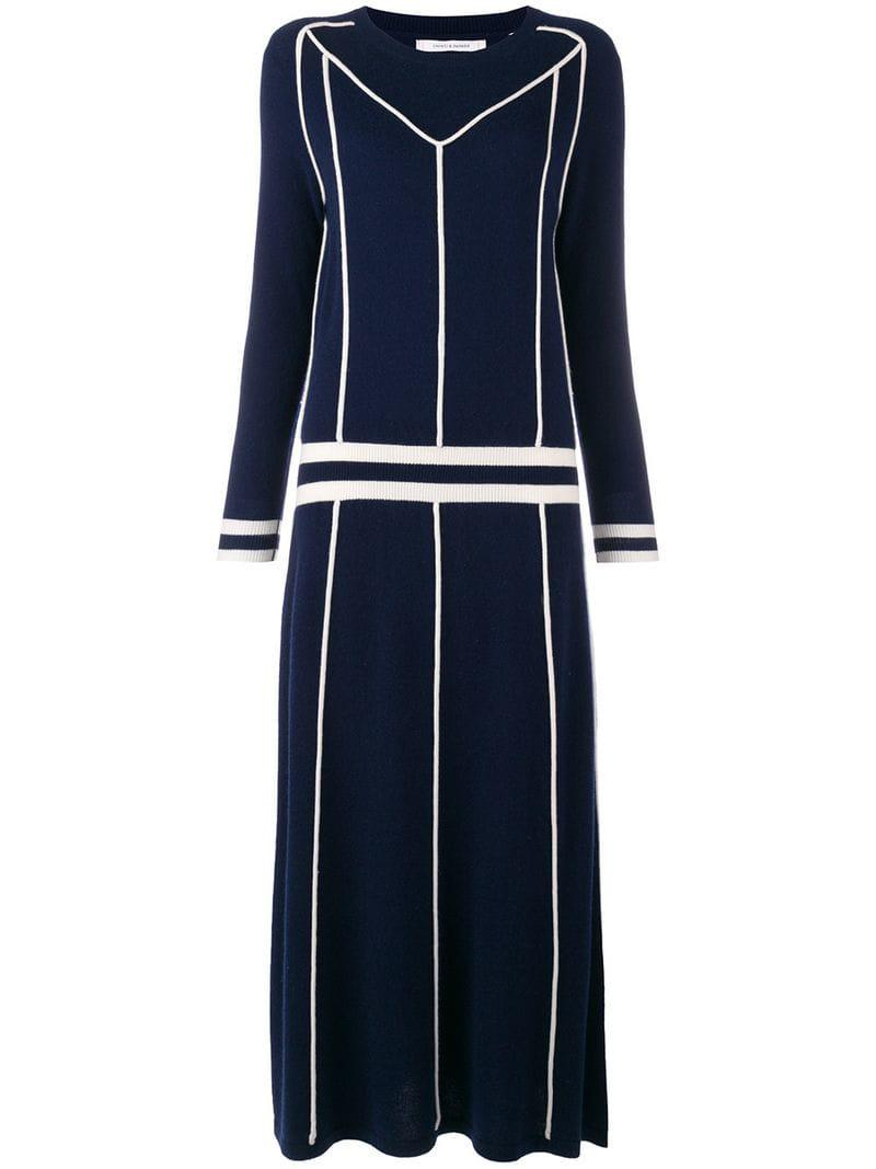 f5490abf6cfd93 Lyst - Chinti   Parker Contrast Sweater Midi Dress in Blue - Save 20%