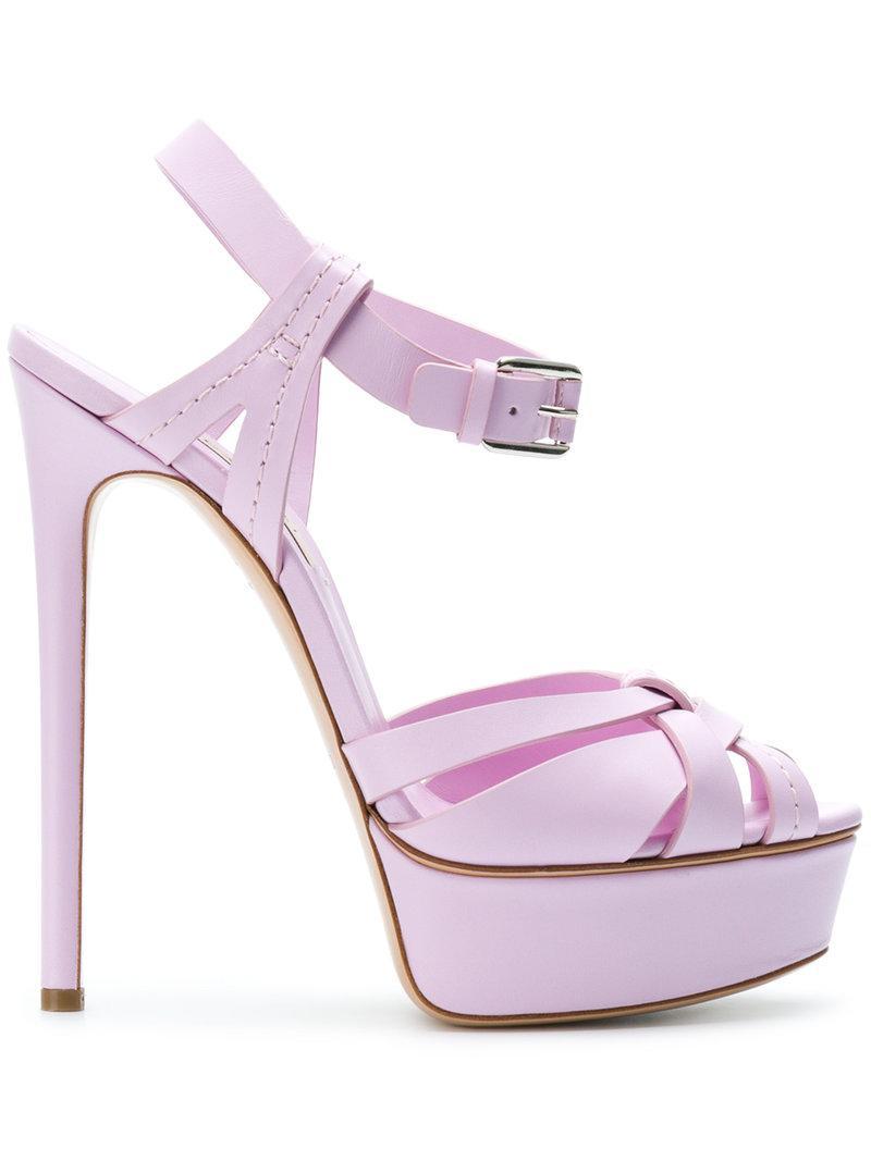 platform sandals - Pink & Purple Casadei CIfpT1