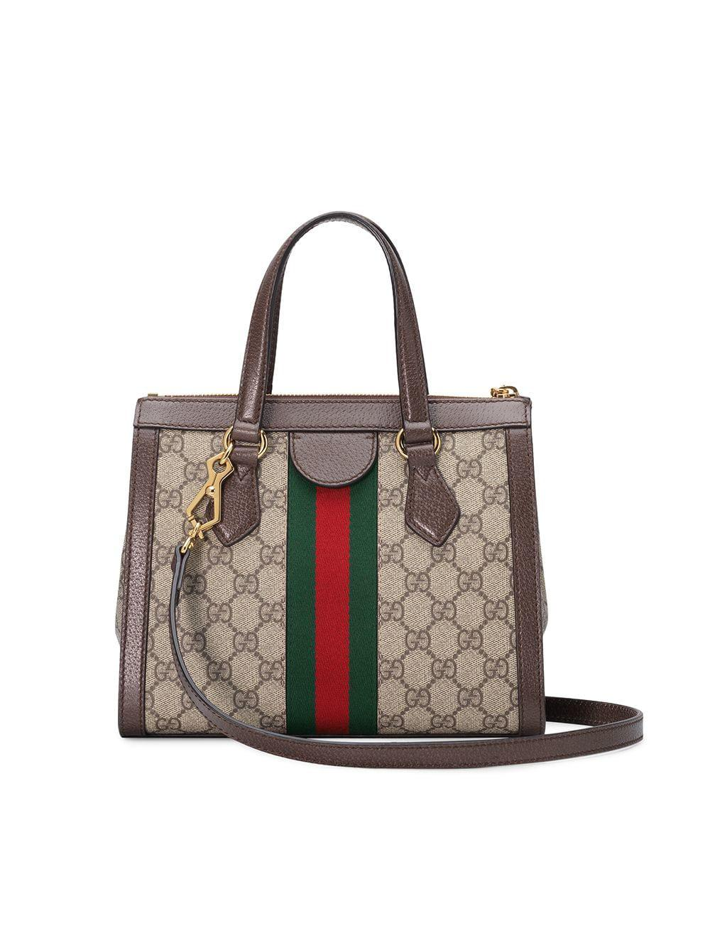 0d6199779c2 Lyst - Gucci Ophidia Small GG Tote Bag in Brown
