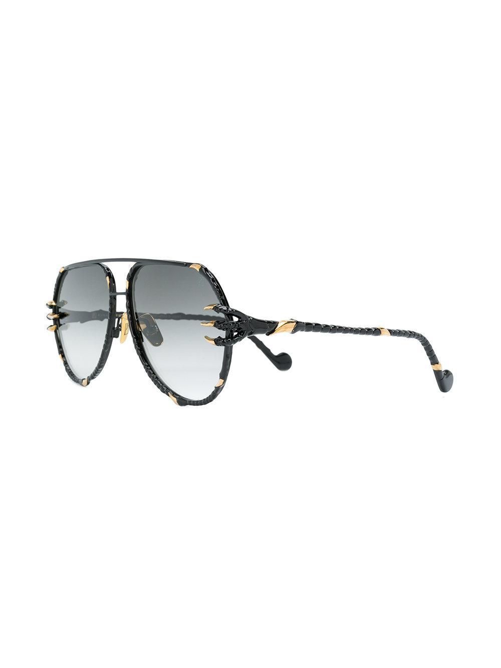 7b81c03385c Anna Karin Karlsson The Claw Pilot Sunglasses in Black - Lyst