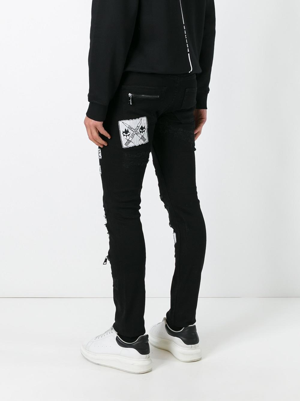 Geniue Stockist Cheap Online Free Shipping Cheap destroyed effect skinny jeans - Black Haculla For Nice For Sale 4Lllz