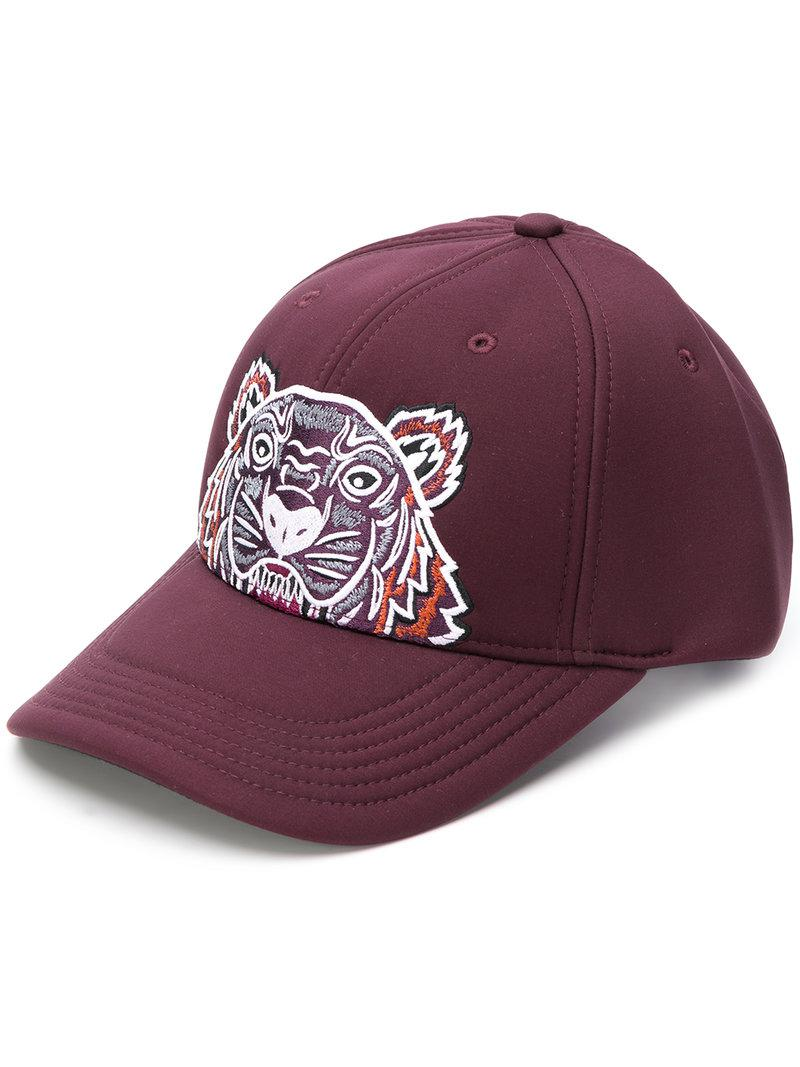 1d398c7695ab5 KENZO Tiger Embroidered Cap in Purple for Men - Lyst