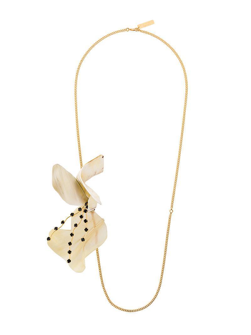 Marni floral necklace - Metallic yAgosOe