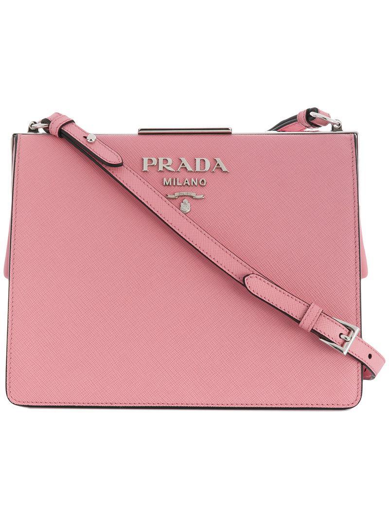 20f22a4279c2 Lyst - Prada Light Frame Shoulder Bag in Pink
