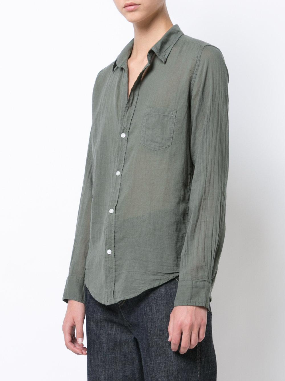 Lyst Frank Eileen Barry Fitted Shirt In Green