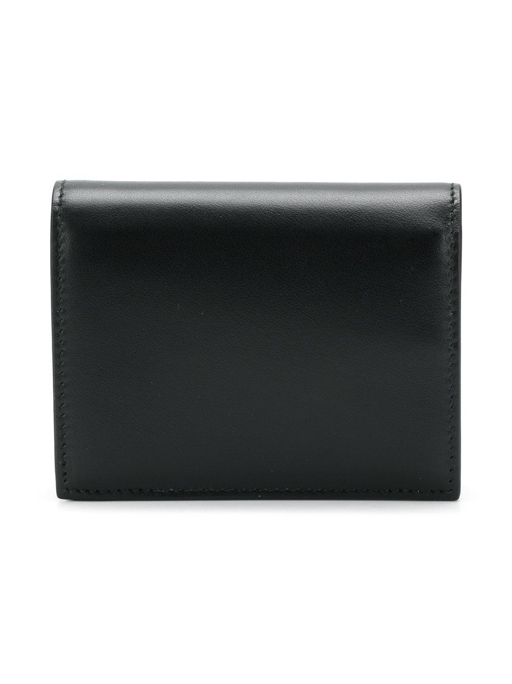28f8daa0c8f0 Lyst - Miu Miu Bow Mini Wallet in Black