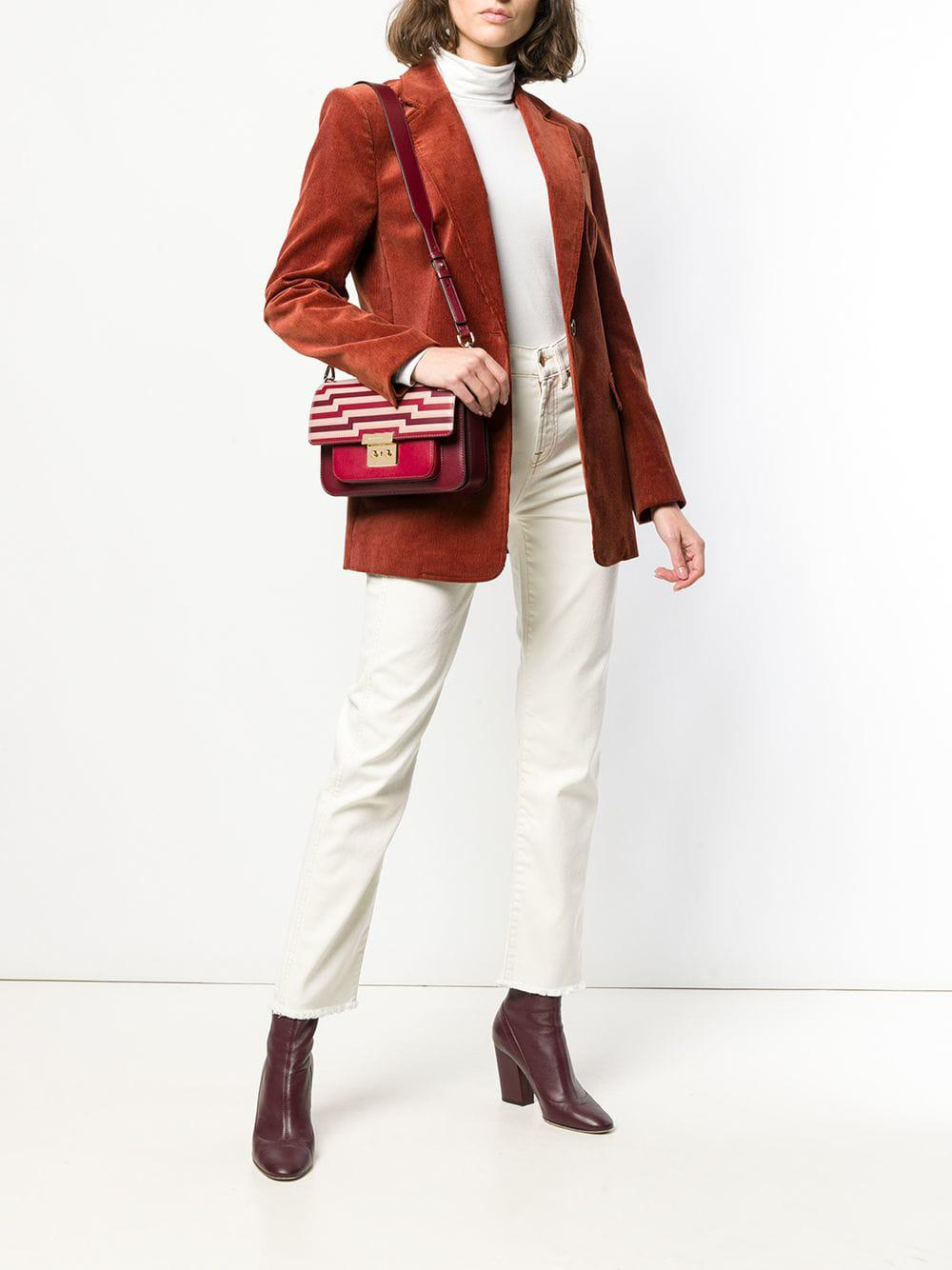 871f1ff512185 MICHAEL Michael Kors Sloan Studded Leather Crossbody Bag in Red - Save 29%  - Lyst