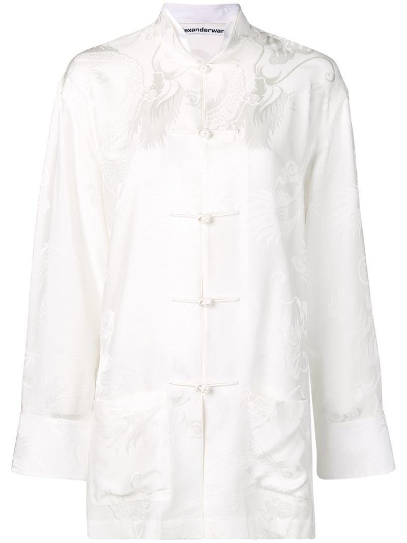 661028bcc94b Lyst - Alexander Wang Oversized Pajama Top in White