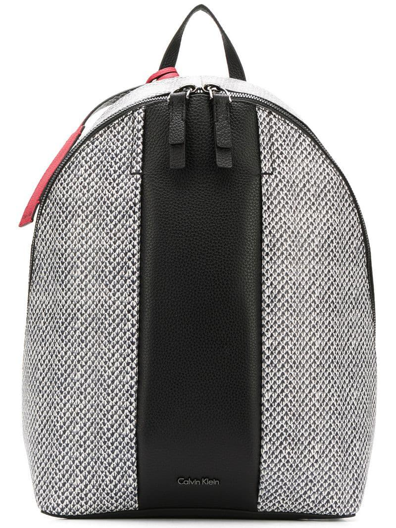 ea3019fb4983 Calvin Klein - Black Printed Backpack - Lyst. View fullscreen
