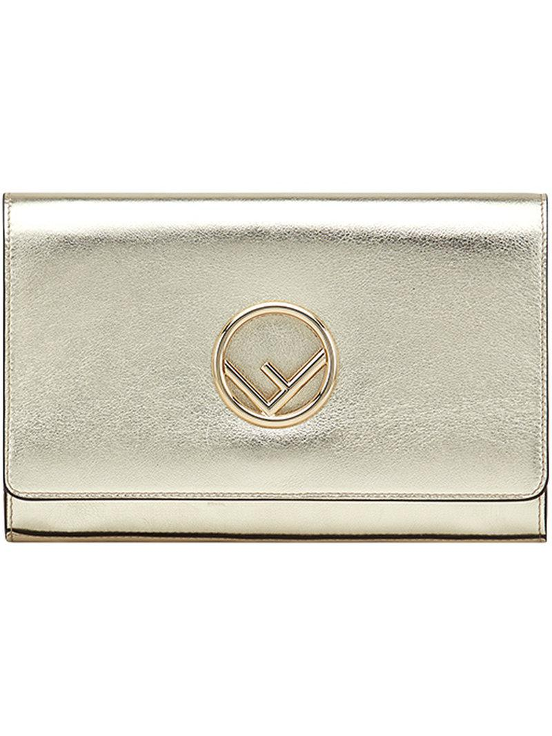 7e7d061b24fa Fendi Chain Strap Wallet in Metallic - Lyst