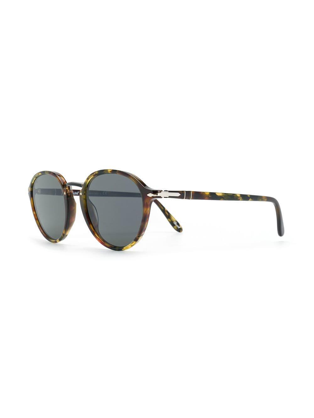 f1409e3274 Persol Round Sunglasses in Brown - Lyst