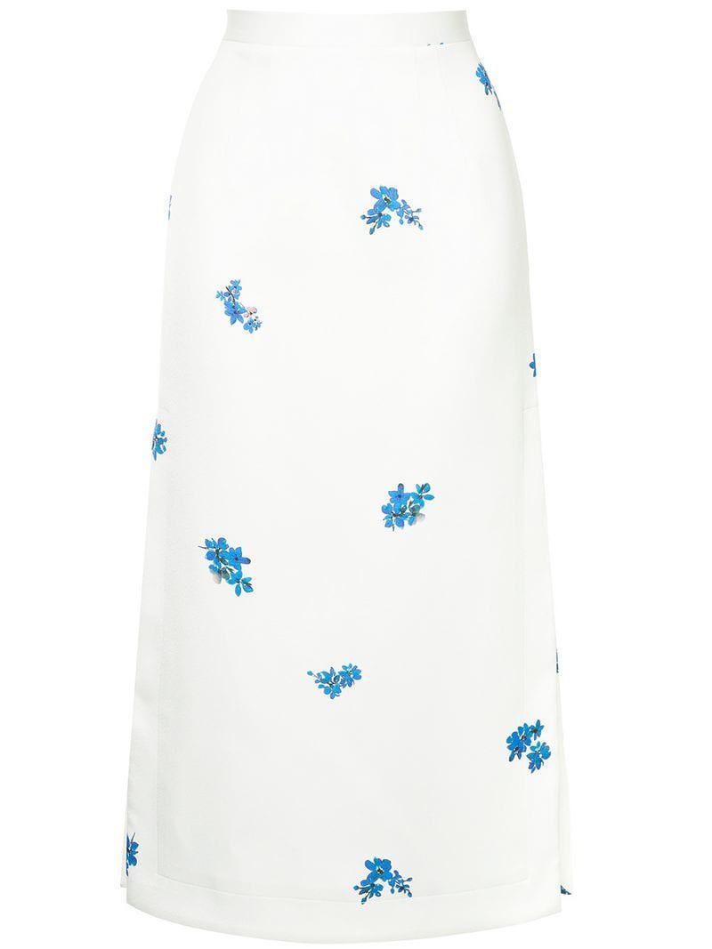 d6027ec6c Camilla & Marc Diliana Midi Skirt in White - Lyst