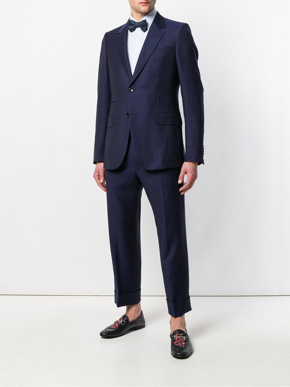 7fb3b0847b Traje Monaco con motivo de micropuntos Gucci de hombre de color Azul ...