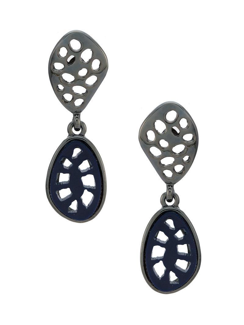 Camila Klein resin earrings - Metallic Zajy64