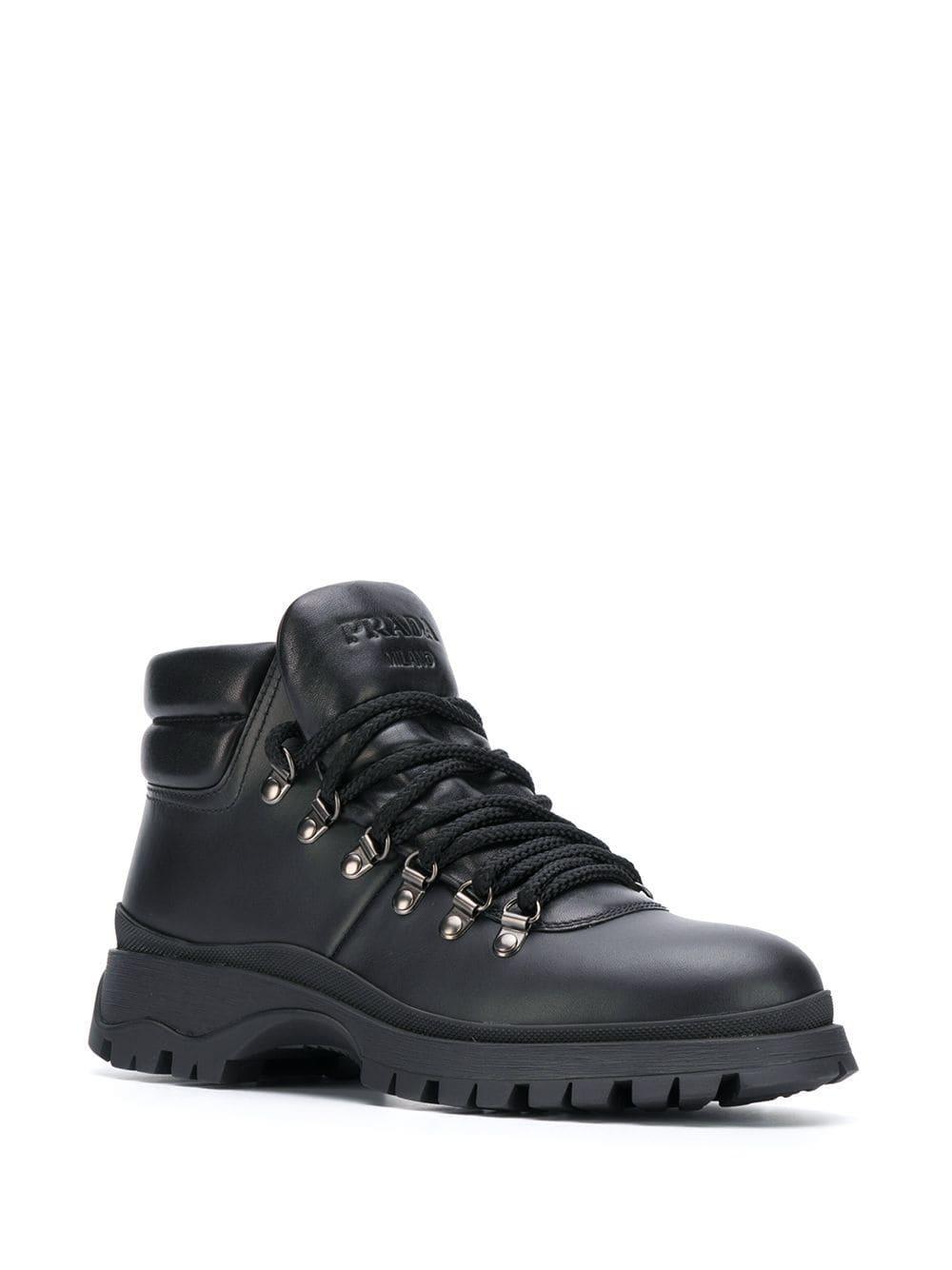 ebb723efa8d Women's Black Lace-up Trekking Boots