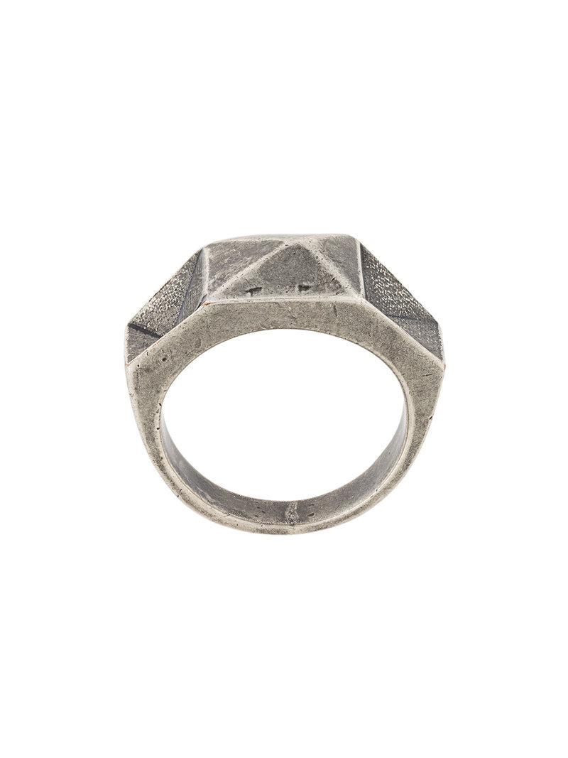 Société Anonyme Face ring - Metallic o0AGy